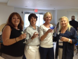 Janet,Melinda,Rita,Paula sharing a moment at the VIP party.