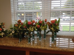 Center pieces by Georgette, beautiful