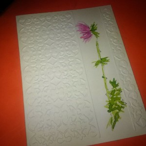 Beautiful embossed hand painted cards painted by an International artist!