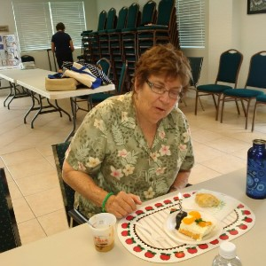 Ginny Lynn Celebrating her Birthday at Community Service Work Shop