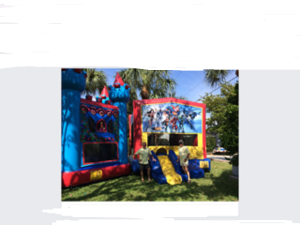 Fun at the bounce house