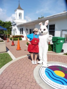 The Easter Bunny and the Ice Cream lady